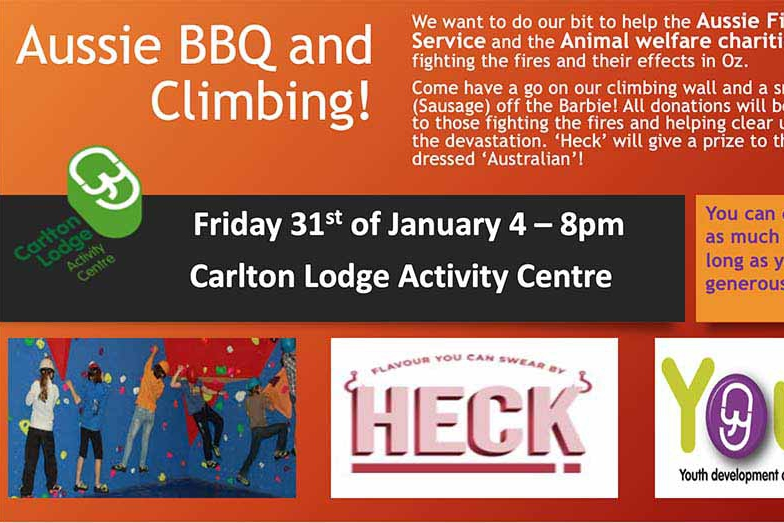 Aussie Bush Fire Fundraiser BBQ and Climbing Event
